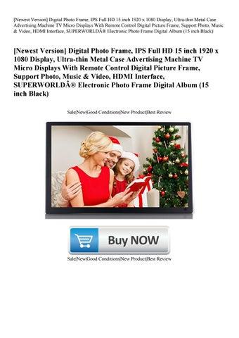 Newest Version] Digital Photo Frame IPS Full HD 15 inch 1920