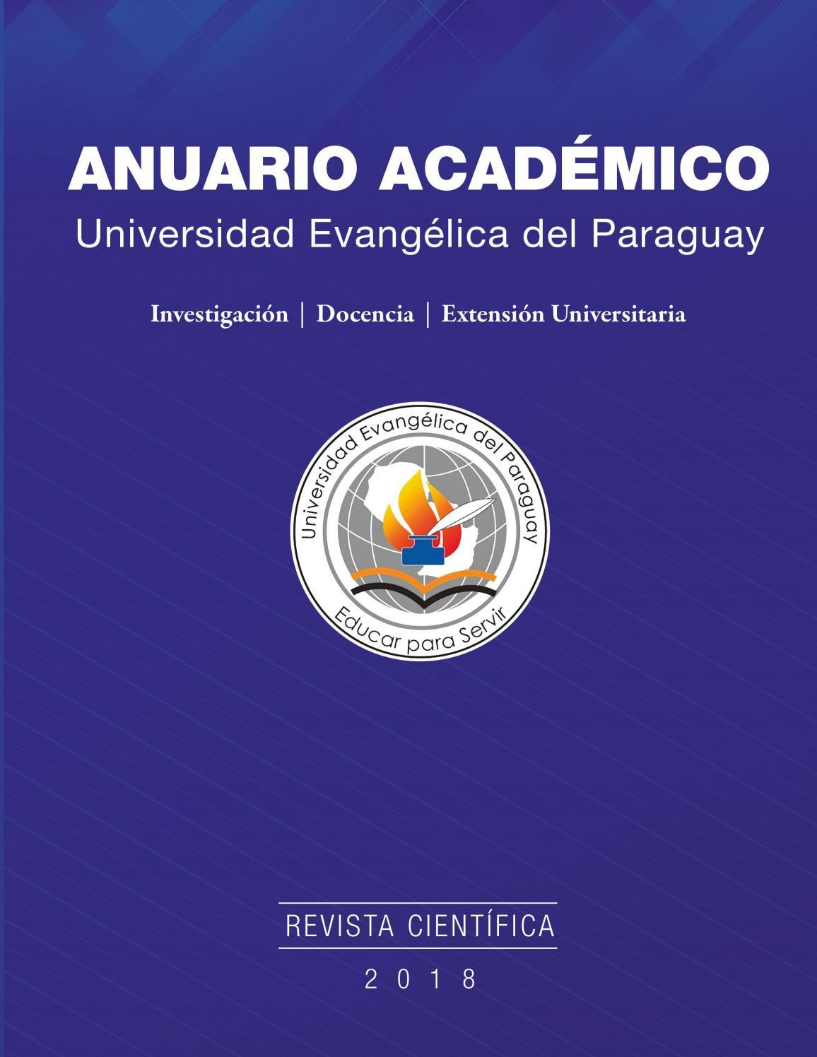 Anuario Acadédemico 2018 By Universidad Evangélica Del