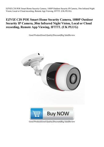 EZVIZ C3S POE Smart Home Security Camera 1080P Outdoor Security IP Camera  30m Infrared Night Visi