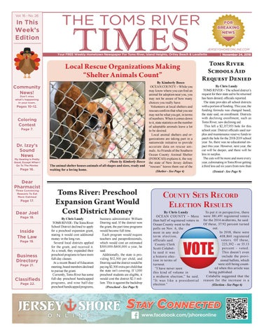 2018-11-24 - The Toms River Times by Micromedia Publications