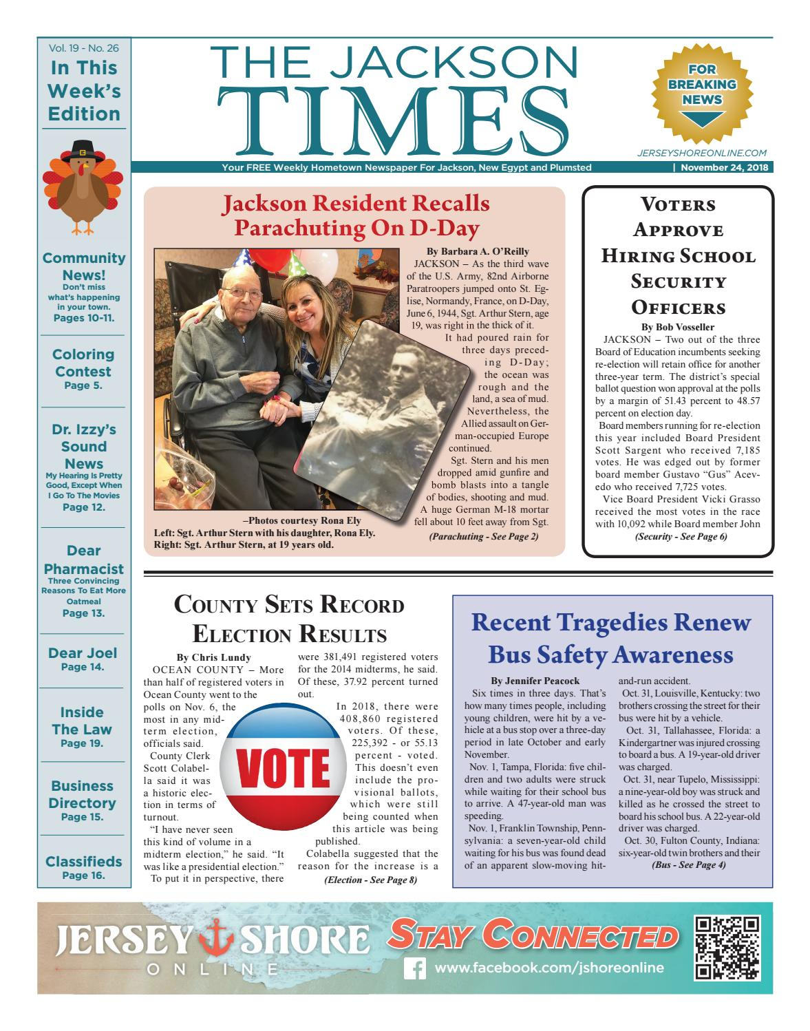 5a057b9ed1 2018-11-24 - The Jackson Times by Micromedia Publications/Jersey Shore  Online - issuu