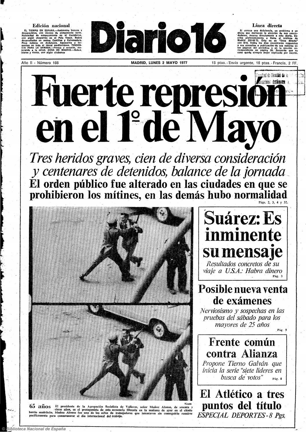 60e8e9576 Diario 16. 2-5-1977 by diario16deburgos - issuu