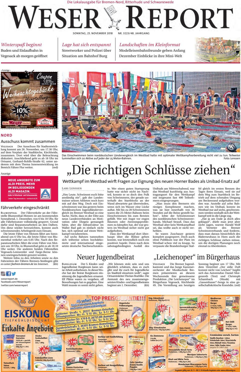 Weser Report - Nord vom 25.11.2018 by KPS Verlagsgesellschaft mbH ...