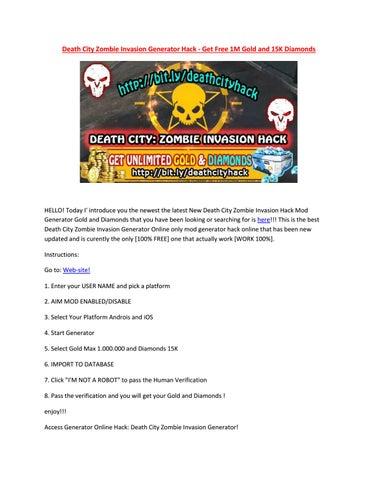 Death City Zombie Invasion Hack Online Generator - Generate Free