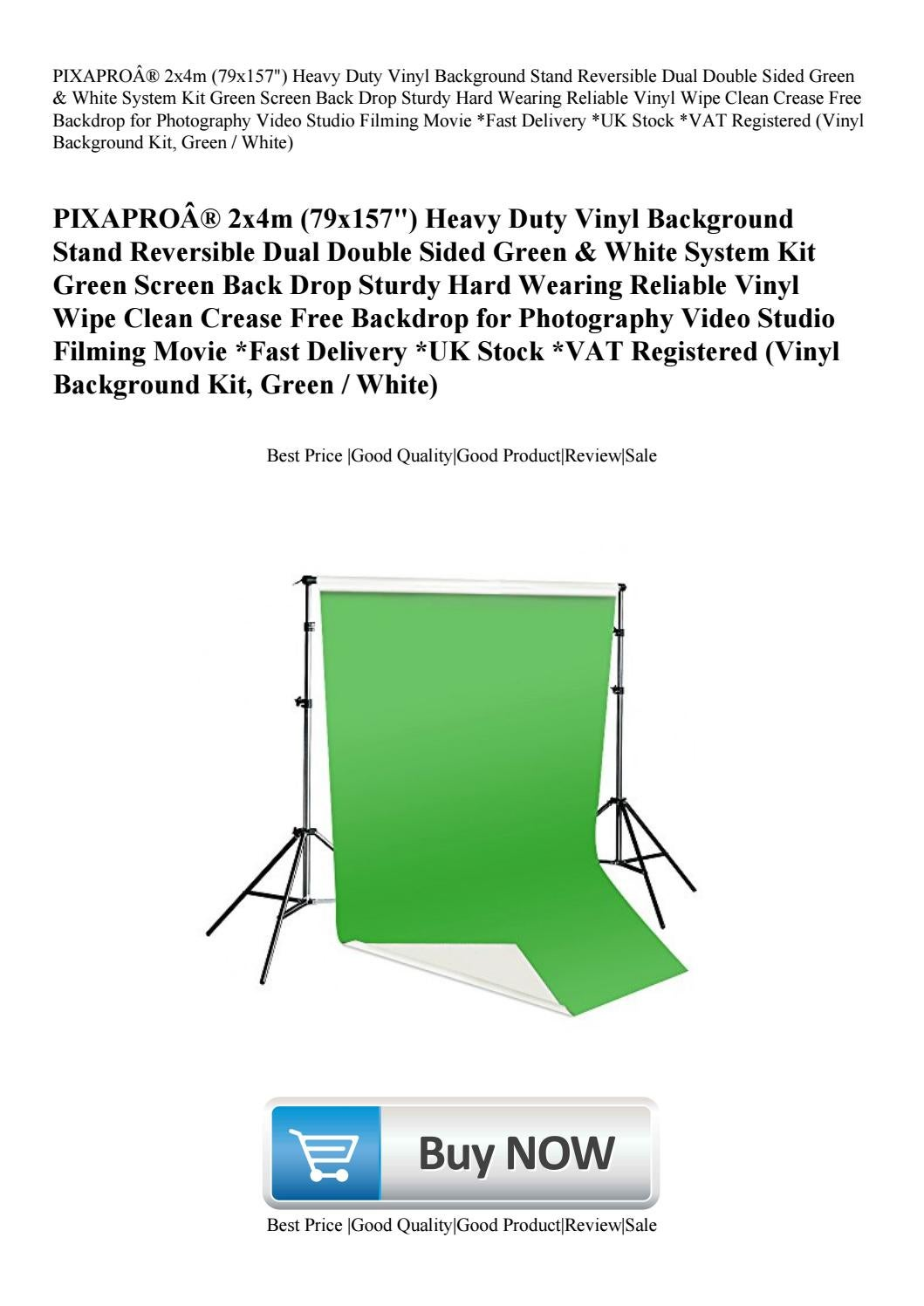 PIXAPRO® 2x4m (79x157) Heavy Duty Vinyl Background Stand