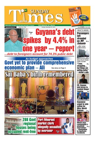 Guyana Times Sunday November 25 2018 By Gytimes Issuu