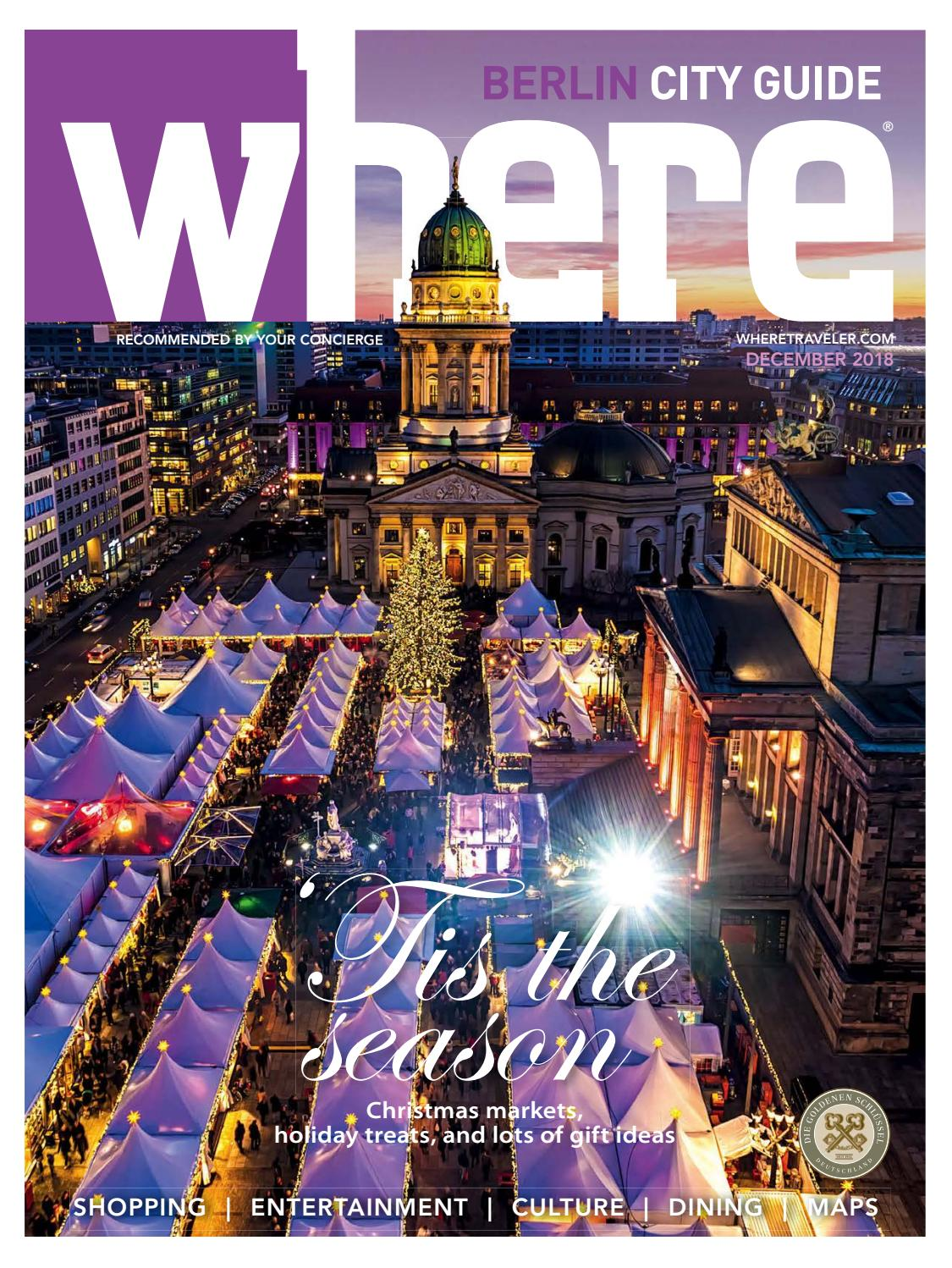 Where Magazine Berlin Dec 2018 by Morris Media Network - issuu