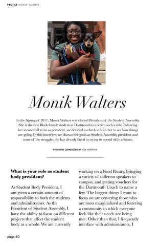 Page 40 of Profile: Monik Walters '19