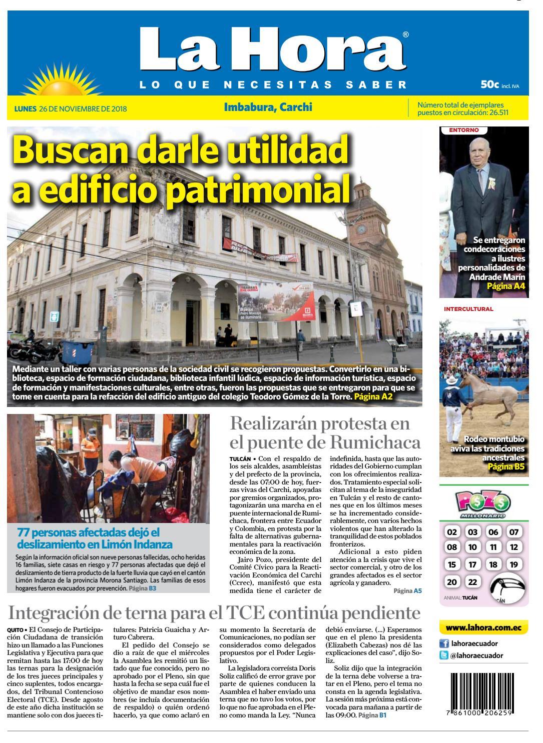 Imbabura 26 de noviembre de 2018 by Diario La Hora Ecuador - issuu e5a0514ff71