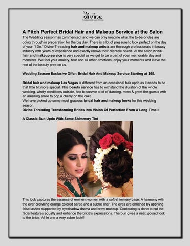 A Pitch Perfect Bridal Hair And Makeup