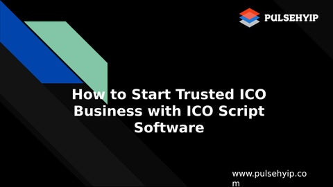 Launch Your Own ICO Website with our best ICO Script Software by