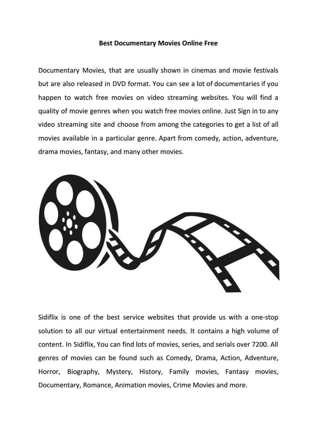 Best Documentary Movies Online Free by markgordon0808 - issuu