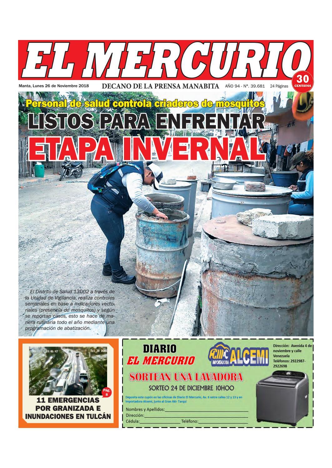 566548098632 LUNES 26 DE NOVIEMBRE DE 2018 by Diario El mercurio - issuu