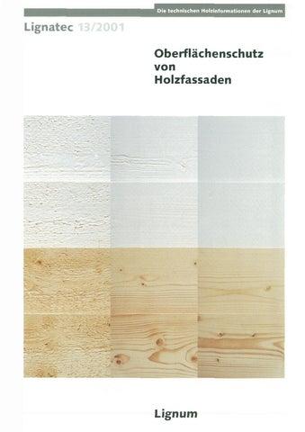 f1f06790cc4714 Oberflächenschutz von Holzfassaden by Lignum - issuu