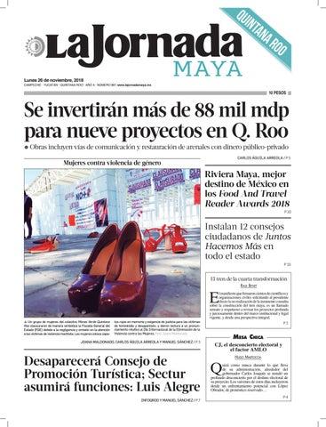 La Jornada Maya · lunes 26 de noviembre de 2018 by La Jornada Maya ... 2943690a1a2fc