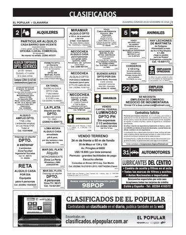 Clasificados del día 25 11 2018 by diarioelpopular - issuu 98046521507