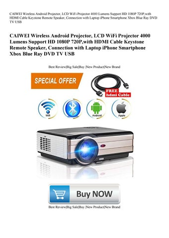 CAIWEI Wireless Android Projector LCD WiFi Projector 4000