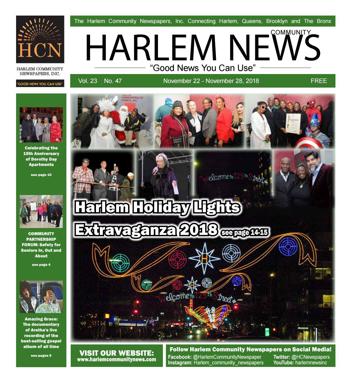 Harlem Community Newspapers November 22 2018 By Mike Kurov Issuu