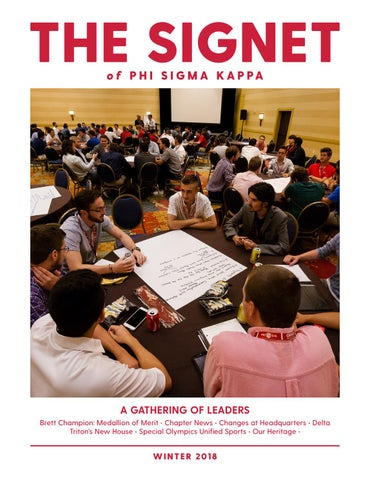 The Signet Winter 2018 By Phi Sigma Kappa Issuu