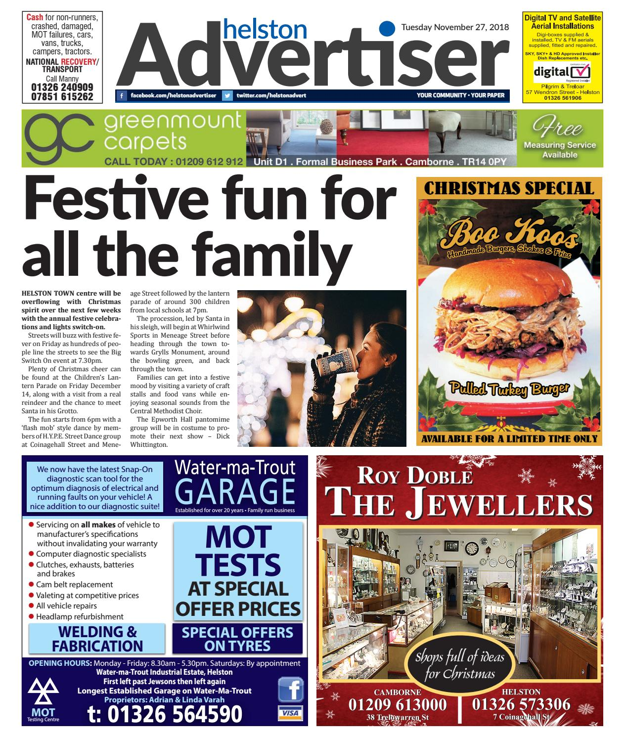 Helston Advertiser - November 27th 2018 by Helston Advertiser - issuu