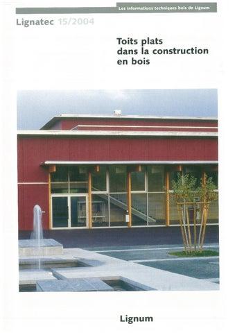 Toits Plats Dans La Construction En Bois By Lignum Issuu