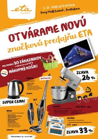Špeciálna ponuka k otvoreniu značkovej predajne ETA Bratislava by ... fc0bb6a4f33