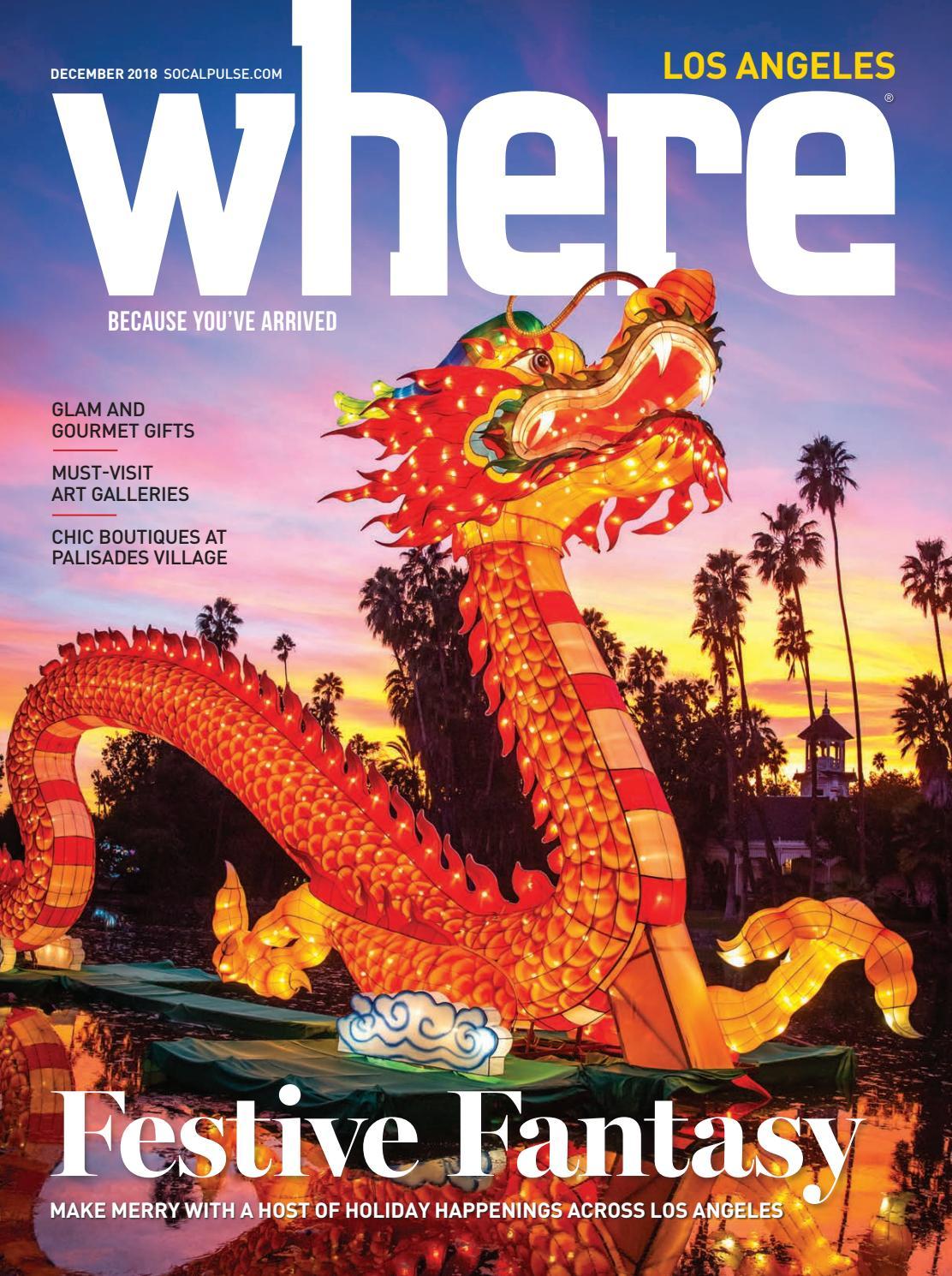 ae4312fab6cf Where Magazine - Los Angeles - December 2018 by SoCalMedia - issuu