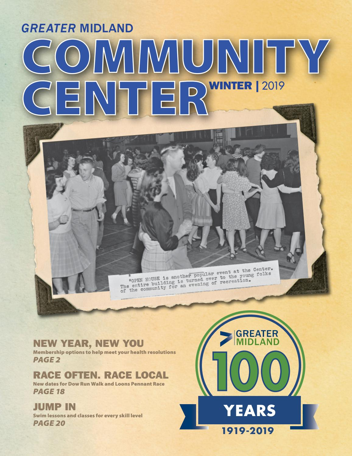 Greater Midland Community Center Winter 2019 Brochure by