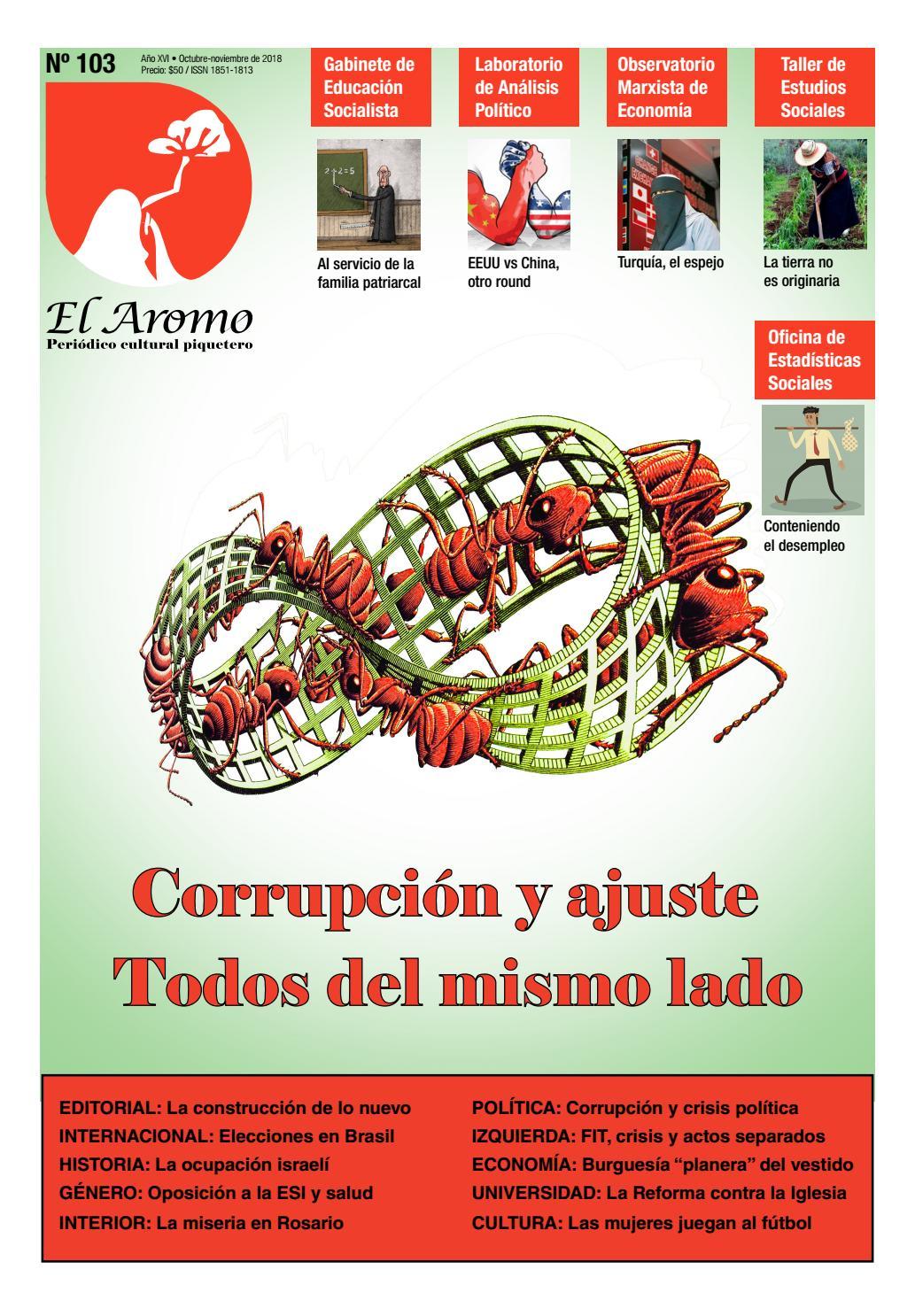 El Aromo N˚103  Corrupción y ajuste. Todos del mismo lado by Razón y  Revolución - issuu 8d53377d9476f
