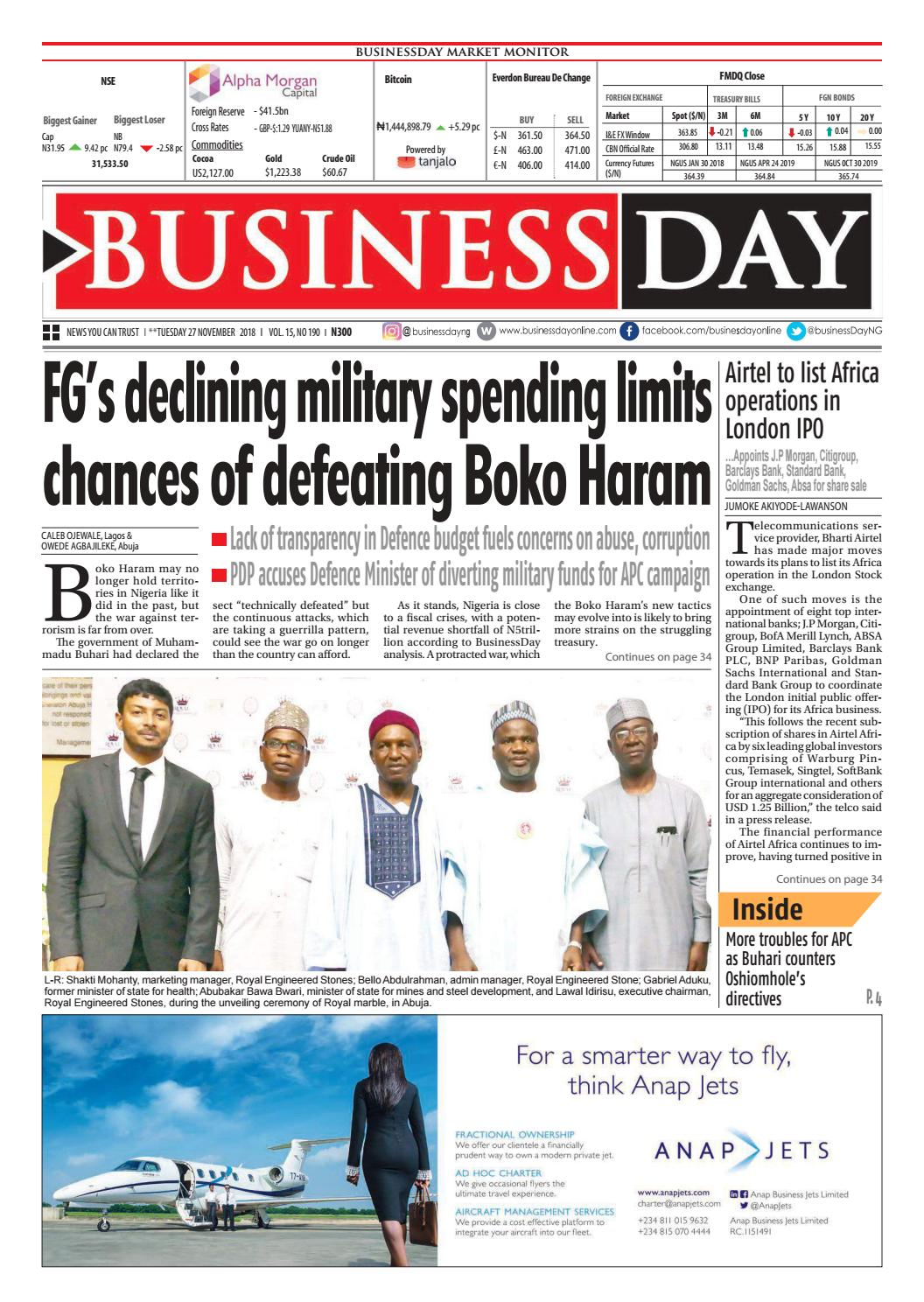 f977af4a88 BusinessDay 27 Nov 2018 by BusinessDay - issuu