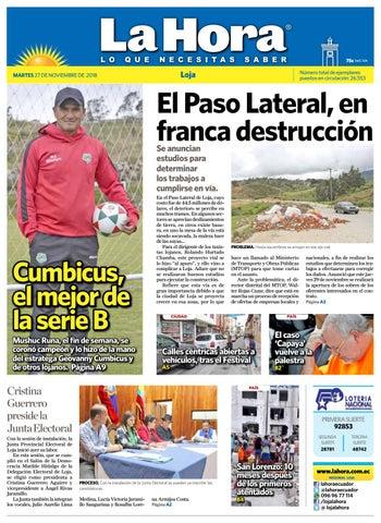 Diario La Hora Loja 27 de Noviembre 2018 by Diario La Hora Ecuador ... ea1ceb6f1e10