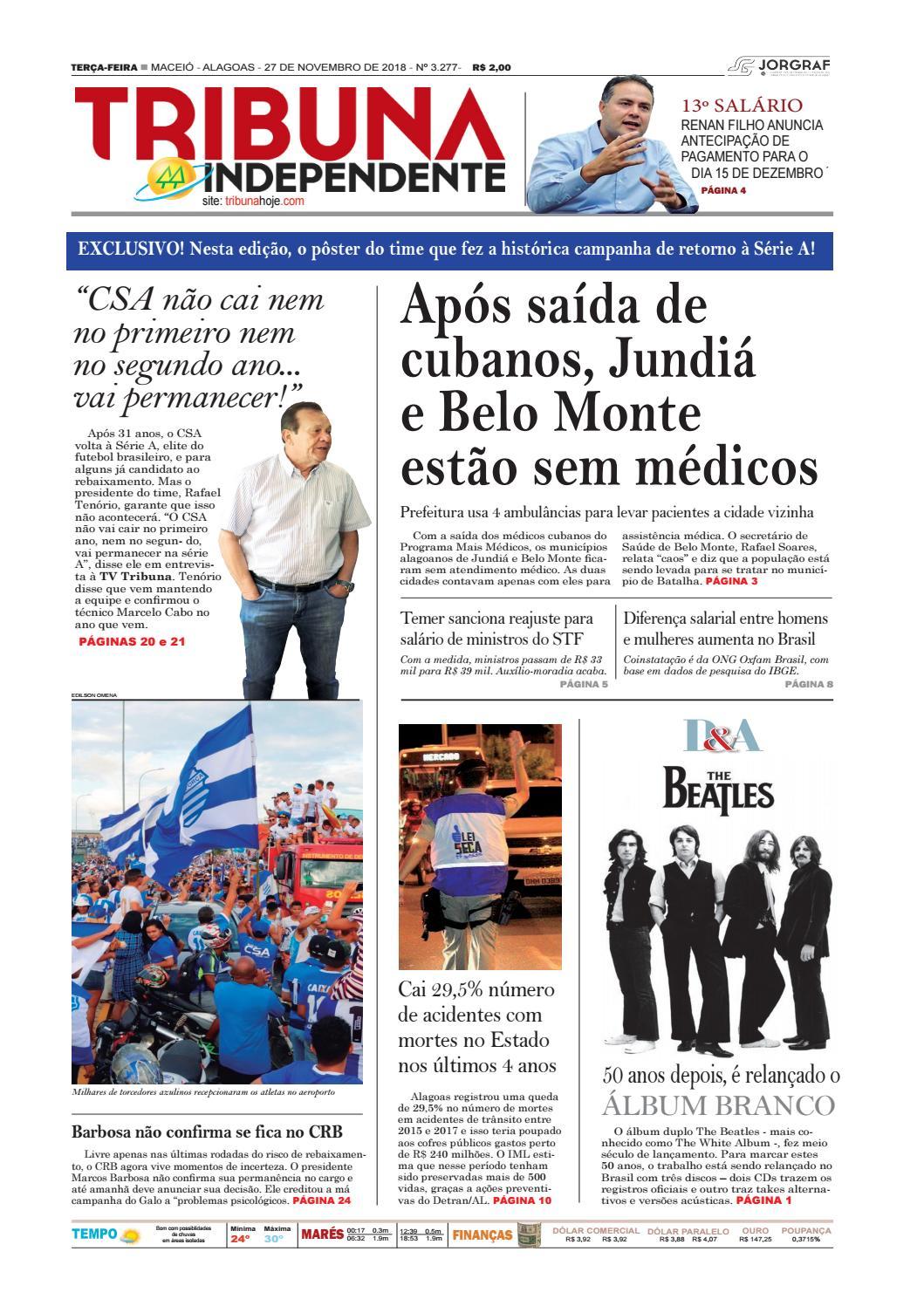 6f93e9975b Edição número 3277 - 27 de novembro de 2018 by Tribuna Hoje - issuu