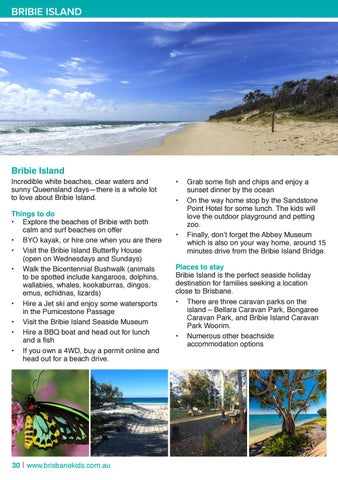 Page 30 of Things to do on Bribie Island