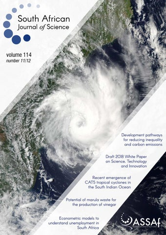 South African Journal of Science Volume 114 Issue 11/12 by South