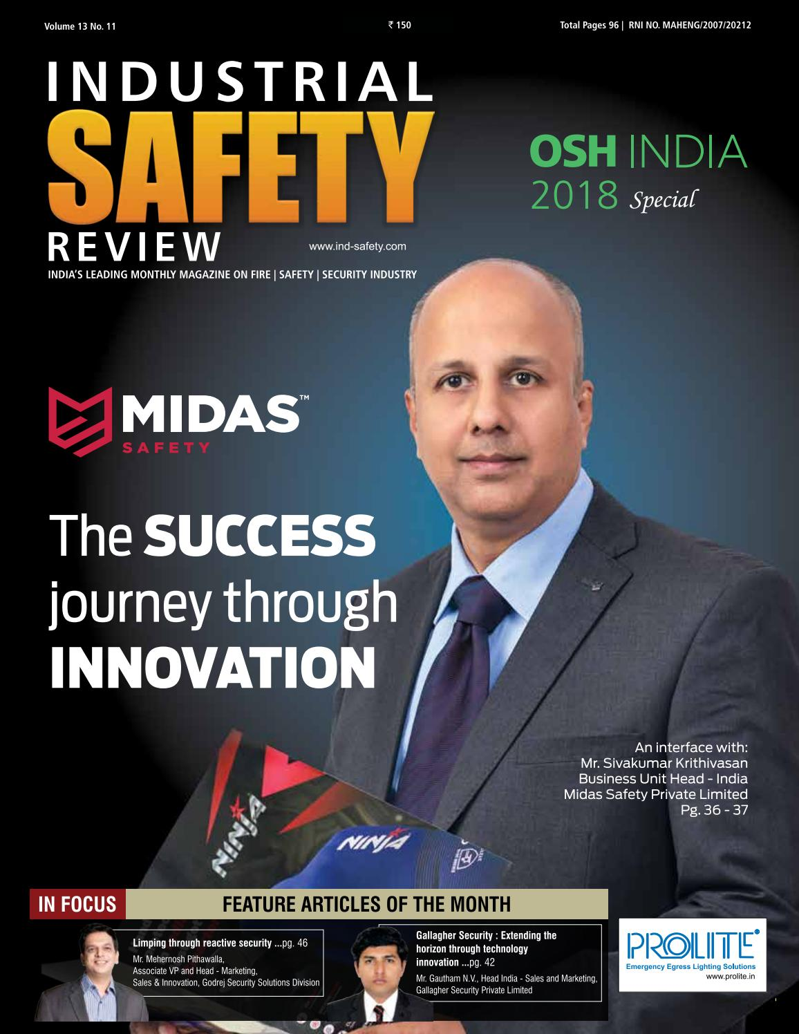 Industrial Safety Review OSH INDIA 2018 Special by Divya