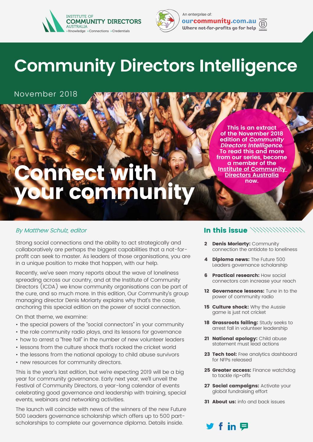 Community Directors Intelligence, November