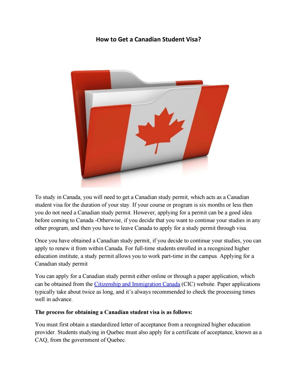 How to Get a Canadian Student Visa? by KP Immigration - issuu