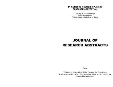 Journal of Abstract by pwc edu davao - issuu