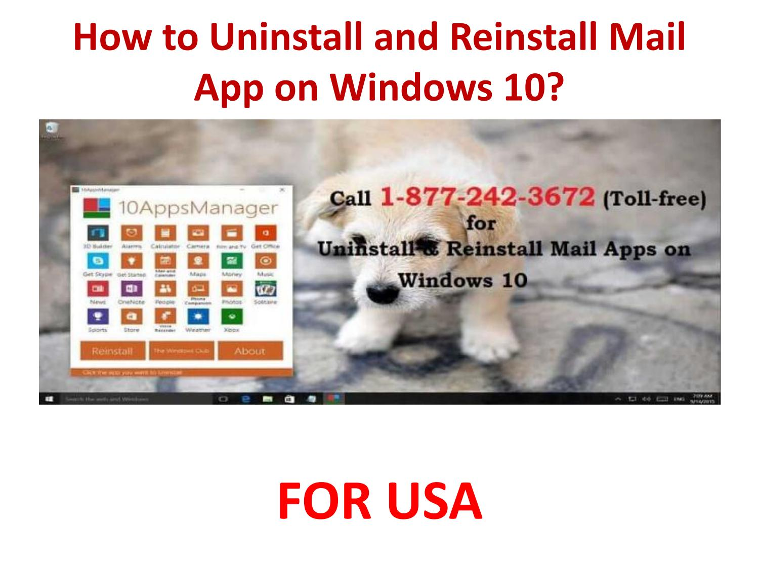 How To Reinstall Mail App On Windows 10 by Windows 10