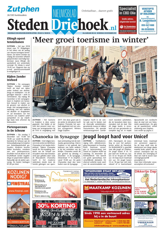 acacb62149e Nieuwsblad Stedendriehoek Zutphen wk48-2018 by Uitgeverij Stedendriehoek -  issuu