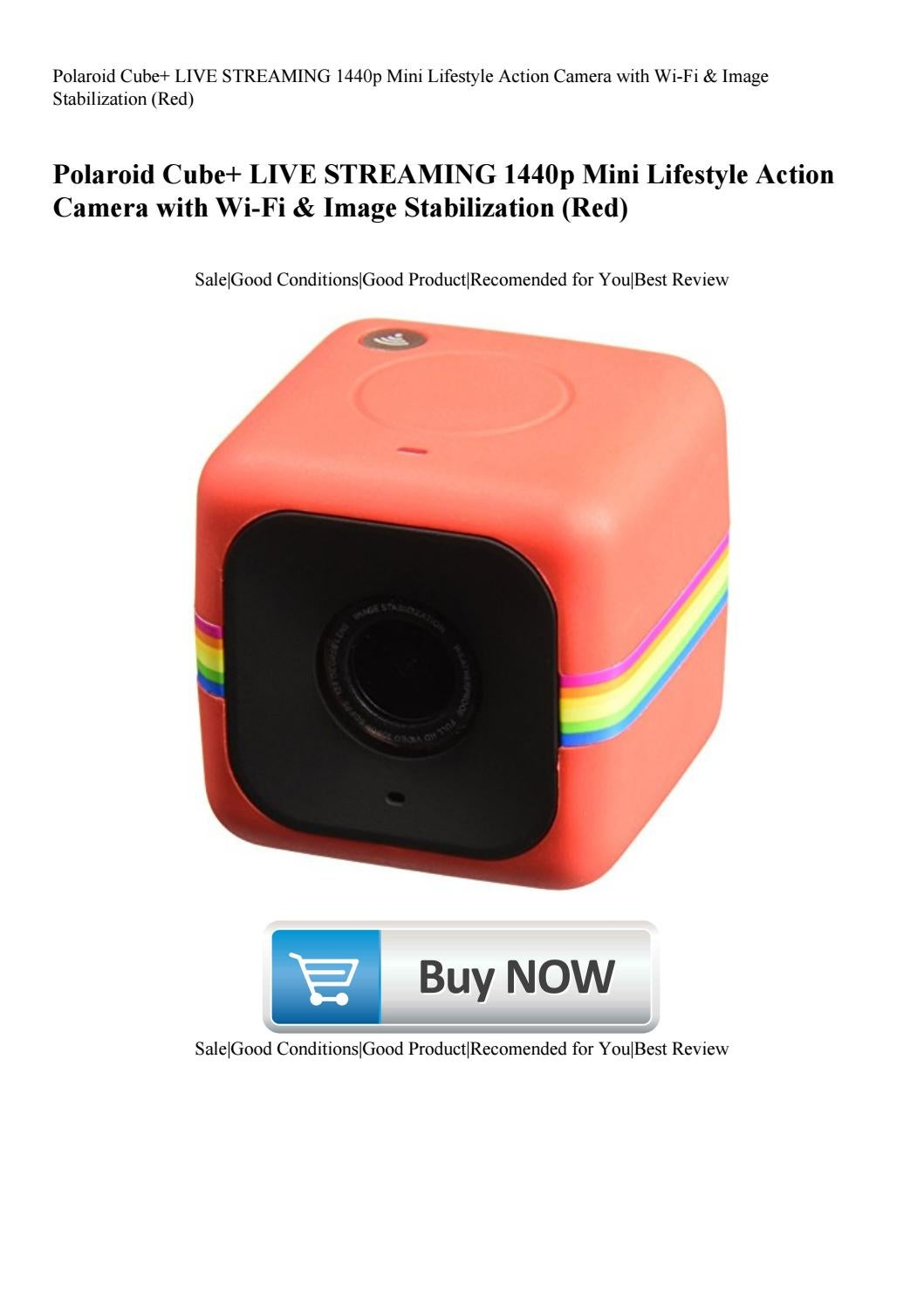 Polaroid Cube+ LIVE STREAMING 1440p Mini Lifestyle Action
