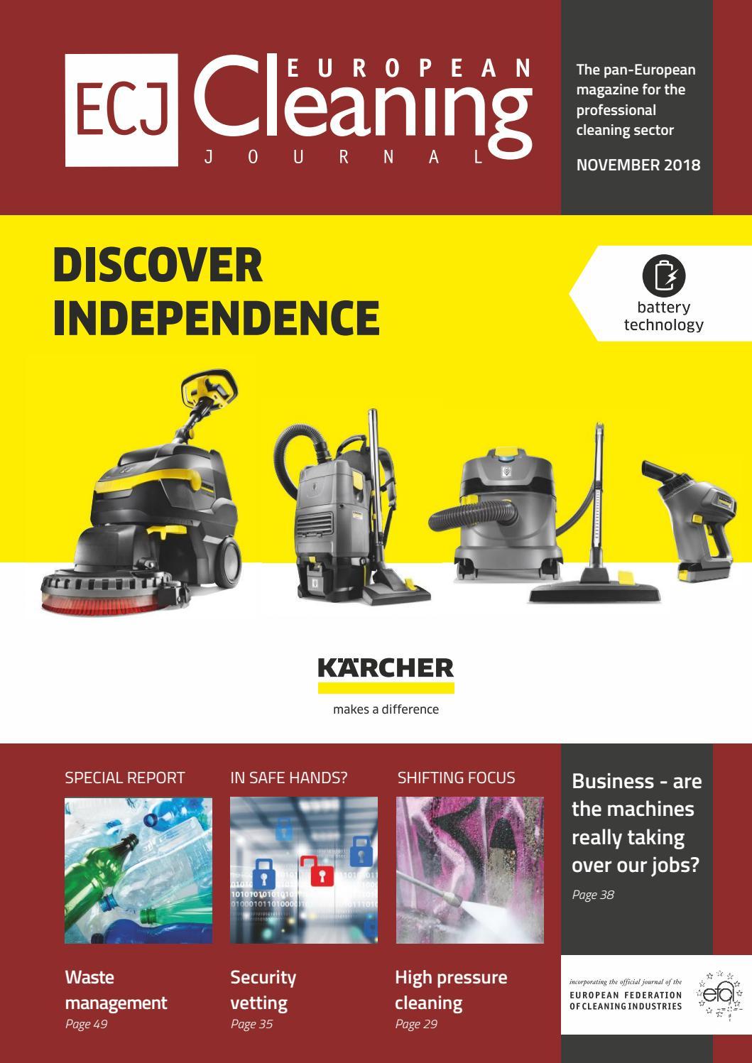 November 2018 By European Cleaning Journal Issuu