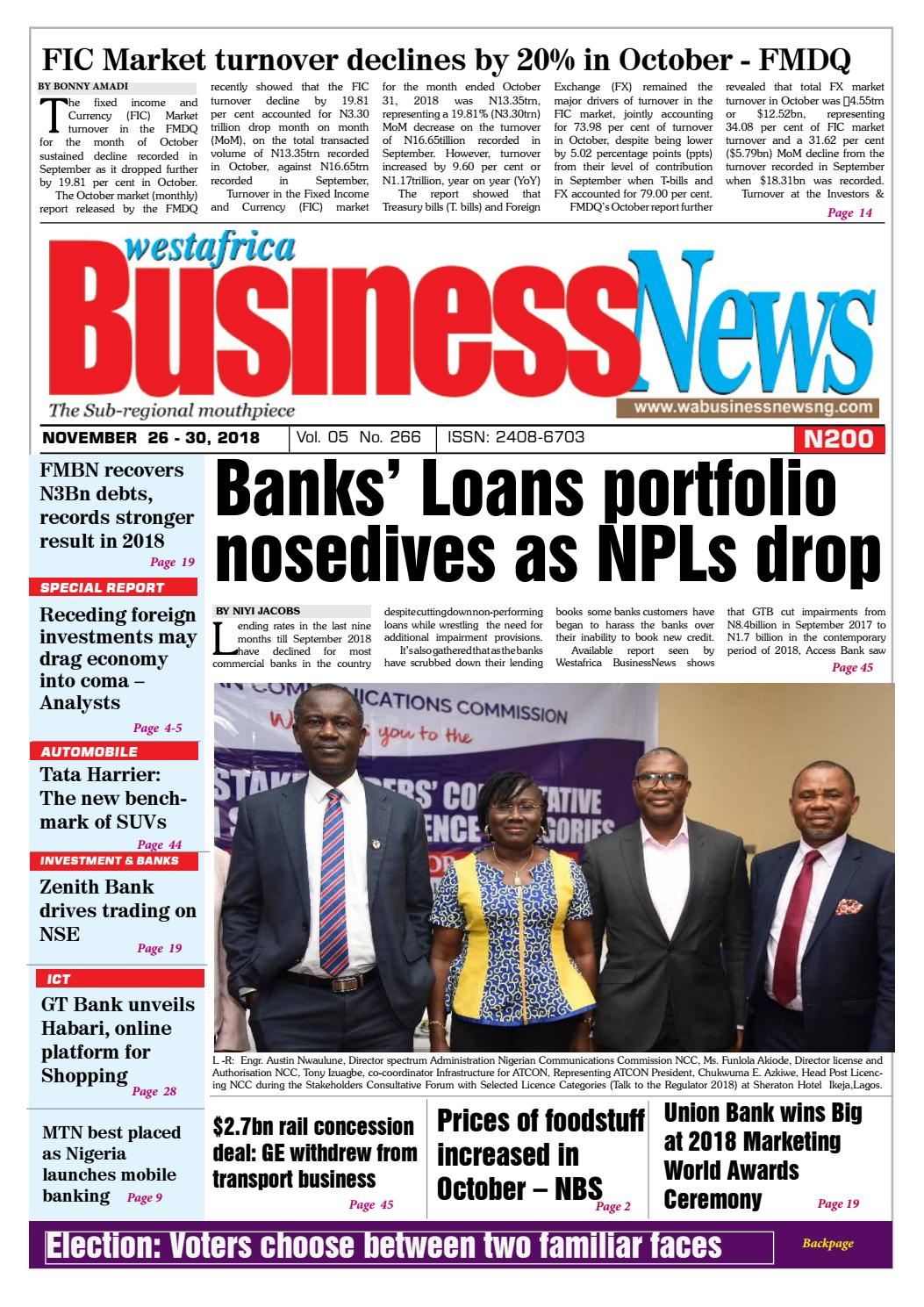 Westafrica BusinessNews Nov  26-30, 2018