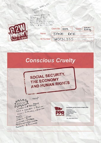 Conscious Cruelty - Social Security, the Economy and Human Rights by