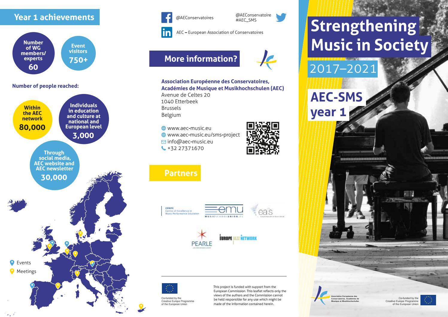 AEC-SMS year 1 Flyer by AEC - Association Européenne des
