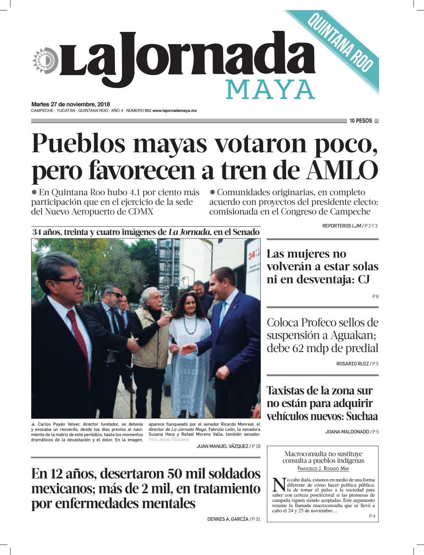2728201df2687 La Jornada Maya · martes 27 de noviembre de 2018 by La Jornada Maya - issuu