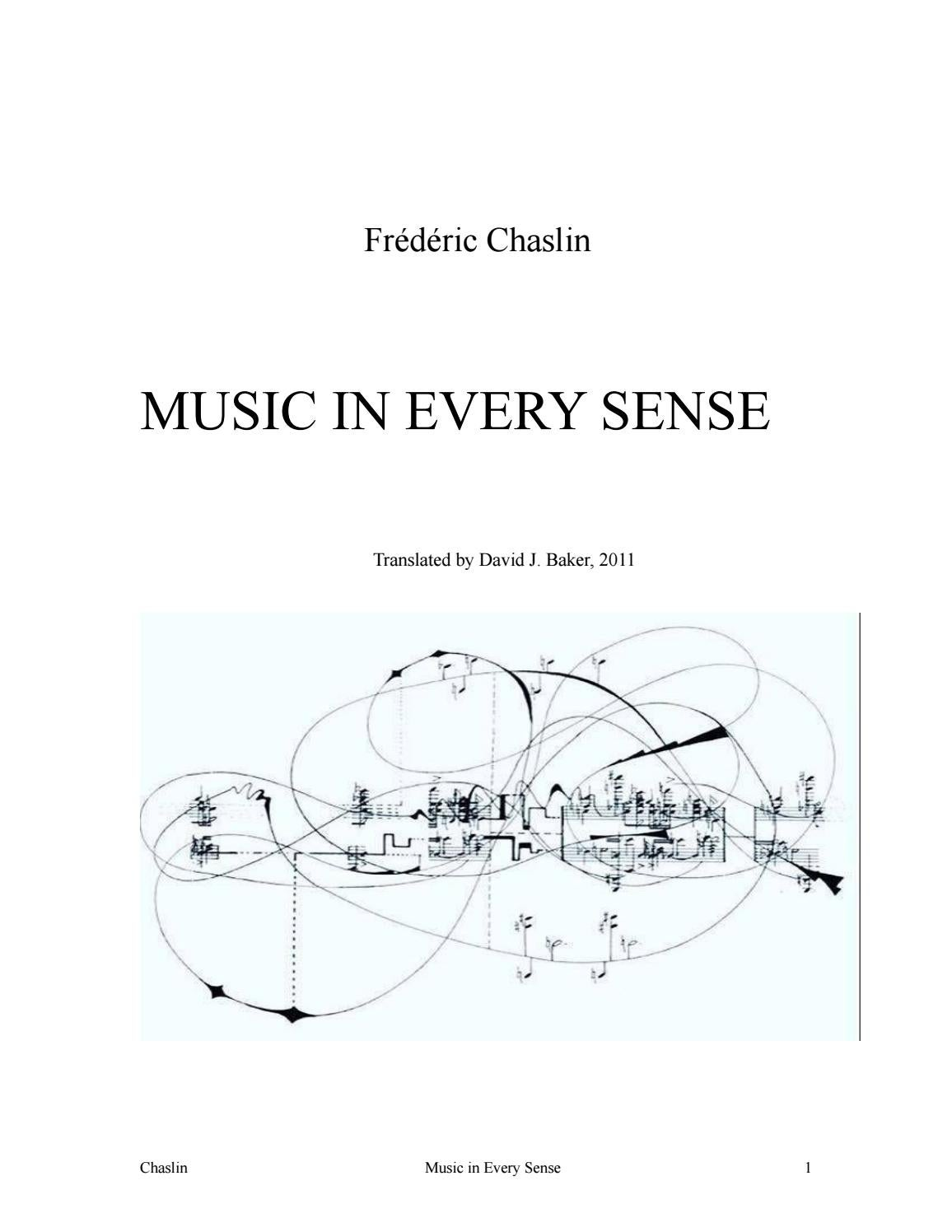 Music In Every Sense By Frederic Chaslin Issuu