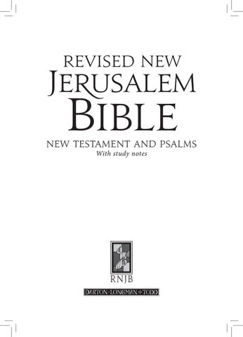 Revised New Jerusalem Bible: New Testament and Psalms by DLT Books