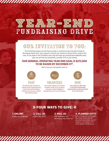 Page 2 of Year-End Fundraising Drive