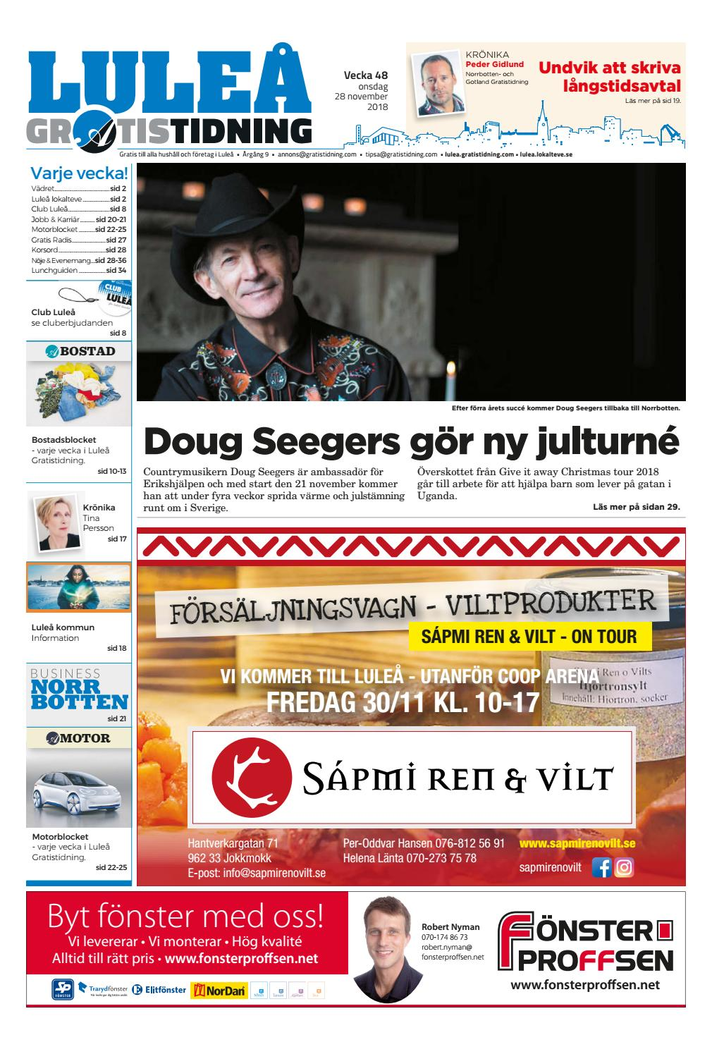 on sale 4d79c 11ef9 Luleå Gratistidning vecka 48, 2018 by Svenska Civildatalogerna AB - issuu